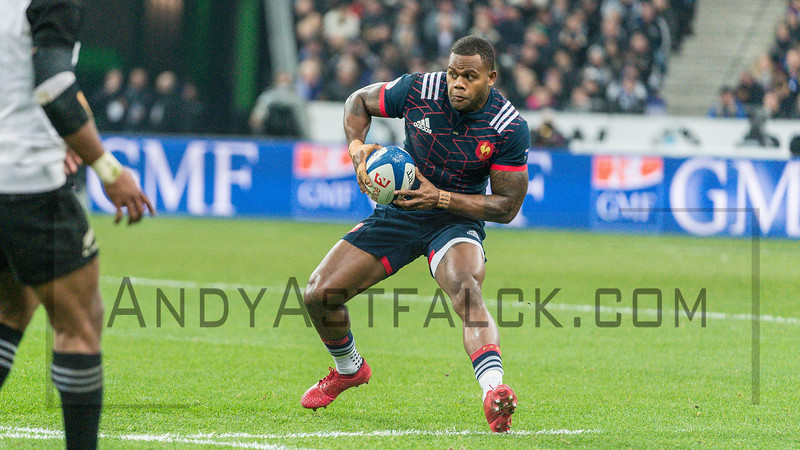 PARIS, FRANCE - NOVEMBER 26: Virimi Vakatawa of France during the international friendly test match between France and New Zealand (All Blacks) at Stade de France on November 26, 2016 in Saint-Denis near Paris, France.