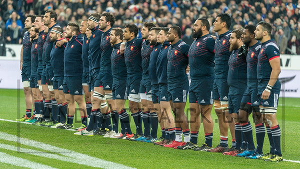PARIS, FRANCE - NOVEMBER 26: The French team prior to the international friendly test match between France and New Zealand (All Blacks) at Stade de France on November 26, 2016 in Saint-Denis near Paris, France.