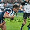 PARIS, FRANCE - NOVEMBER 26: Brice Cullin of France is tackled by Ryan Cotty of New Zealand during the international friendly test match between France and New Zealand (All Blacks) at Stade de France on November 26, 2016 in Saint-Denis near Paris, France.
