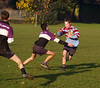 Great body position Tim, hnd-off at the ready - ball relatively safe!