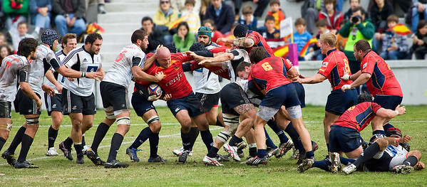 Rugby Match Spain vs Portugal