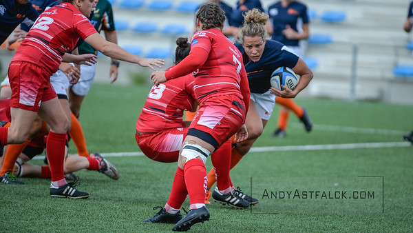 Womens Rugby Union friendly match between the Netherlands and the British Army held