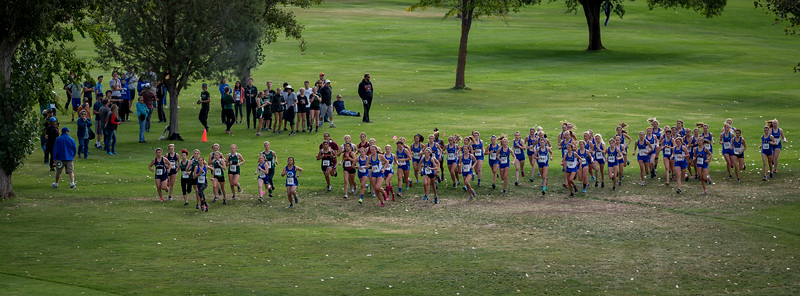 Start of the girl's JV race.