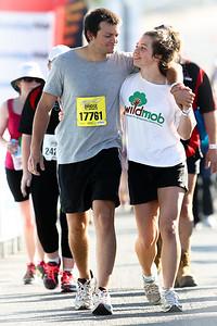 Happy Couple (Wildmob & 17761) - 2012 Sunday Mail Suncorp Bridge to Brisbane Fun Run; Sir Leo Hielscher Bridge (Gateway Bridge) to RNA Showgrounds. Camera 2. Photos by Des Thureson:  http://disci.smugmug.com.