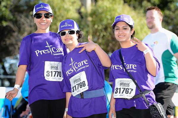 """Pres Care - 2012 Sunday Mail Suncorp Bridge to Brisbane Fun Run; Sir Leo Hielscher Bridge (Gateway Bridge) to RNA Showgrounds. Camera 1. Photos by Des Thureson:  <a href=""""http://disci.smugmug.com"""">http://disci.smugmug.com</a>."""