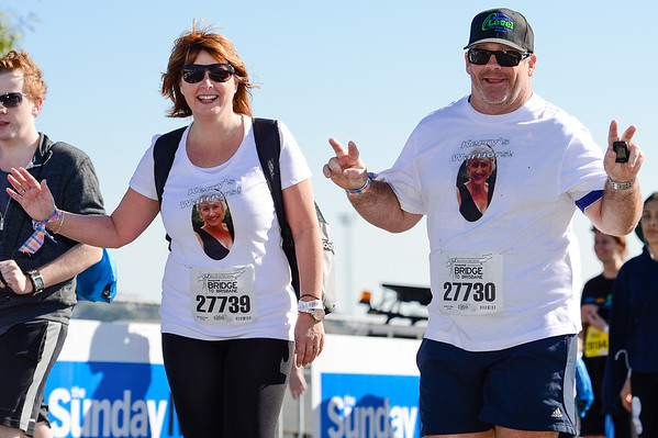 "Kerry's Warriors - 2012 Sunday Mail Suncorp Bridge to Brisbane Fun Run; Sir Leo Hielscher Bridge (Gateway Bridge) to RNA Showgrounds. Camera 1. Photos by Des Thureson:  <a href=""http://disci.smugmug.com"">http://disci.smugmug.com</a>."