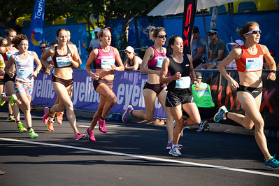 Jessica Trengrove, Kelly Ann Perkins, Zoe Buckman, Lucy Van Dalen - 2013 Noosa Women's Asics 5k Bolt Run - 2013 Super Saturday at the Noosa Triathlon Multi Sport Festival, Noosa Heads, Sunshine Coast, Queensland, Australia. Camera 1. Photos by Des Thureson - http://disci.smugmug.com