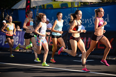 Susan Kuijken, Lucy Van Dalen, Lilli BURDON, Sophie MALOWIECKI - 2013 Noosa Women's Asics 5k Bolt Run - 2013 Super Saturday at the Noosa Triathlon Multi Sport Festival, Noosa Heads, Sunshine Coast, Queensland, Australia. Camera 1. Photos by Des Thureson - http://disci.smugmug.com