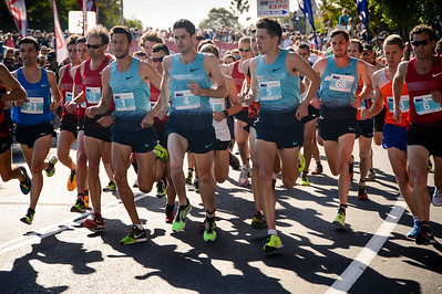 Collis Birmingham, Malcolm Hicks, Paul Robinson, Jackson Elliott - 2013 Noosa Men's Asics 5k Bolt Run - Super Saturday at the Noosa Triathlon Multi Sport Festival, Noosa Heads, Sunshine Coast, Queensland, Australia. Camera 1. Photos by Des Thureson - http://disci.smugmug.com