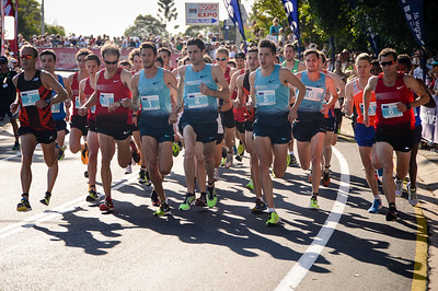 Collis Birmingham, Ben St Lawrence, Malcolm Hicks, Paul Robinson, Jackson Elliott - 2013 Noosa Men's Asics 5k Bolt Run - Super Saturday at the Noosa Triathlon Multi Sport Festival, Noosa Heads, Sunshine Coast, Queensland, Australia. Camera 1. Photos by Des Thureson - http://disci.smugmug.com