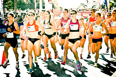 "Alternate Processing: ""Kelco Polar Cream"" - Kelly Ann Perkins, Jessica Trengrove, Susan Kuijken, Zoe Buckman, Milly Clark - 2013 Noosa Women's Asics 5k Bolt Run - 2013 Super Saturday at the Noosa Triathlon Multi Sport Festival, Noosa Heads, Sunshine Coast, Queensland, Australia. Camera 1. Photos by Des Thureson - http://disci.smugmug.com"