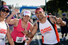"Nice expressions from the participants - Way to Go! - 2013 Sunday Mail Suncorp Bridge to Brisbane Fun Run; Sir Leo Hielscher Bridge (Gateway Bridge) to RNA Showgrounds; 1 September. Camera 1. Photos by Des Thureson:  <a href=""http://disci.smugmug.com"">http://disci.smugmug.com</a>."