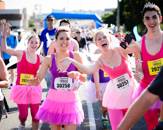 I love the costumes and the effort people put in - Nice expressions from the participants - Way to Go! - 2013 Sunday Mail Suncorp Bridge to Brisbane Fun Run; Sir Leo Hielscher Bridge (Gateway Bridge) to RNA Showgrounds; 1 September. Camera 1. Photos by Des Thureson:  http://disci.smugmug.com.