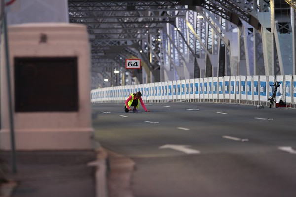 "Empty deserted Story BridgeTelephoto Images - 2017 Sunday Mail Brisbane to Brisbane Fun Run, Sunday 27 August; Queensland, Australia. Camera 2. Photos by Des Thureson - <a href=""http://disci.smugmug.com"">http://disci.smugmug.com</a>"