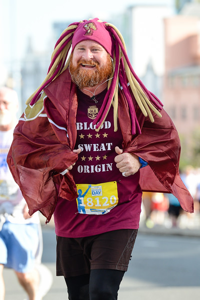 "Blood Sweat Origin Maroons - 2017 Sunday Mail Brisbane to Brisbane Fun Run, Sunday 27 August; Queensland, Australia. Camera 1. Photos by Des Thureson - <a href=""http://disci.smugmug.com"">http://disci.smugmug.com</a>"