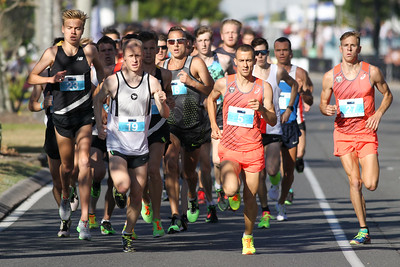 Stewart McSweyn, Chris Hamer, Brad Milosevic, Adrian Plummer - 2016 ASICS Bolt (Noosa 5k Bolt Run) - Super Saturday at the Noosa Triathlon Multi Sport Festival, Noosa Heads, Sunshine Coast, Queensland, Australia. Saturday 29 October 2016. - Camera 1