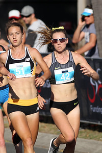 Genevive Lalonde, Linden Hall - 2016 ASICS Bolt (Noosa 5k Bolt Run) - Super Saturday at the Noosa Triathlon Multi Sport Festival, Noosa Heads, Sunshine Coast, Queensland, Australia. Saturday 29 October 2016. - Camera 1
