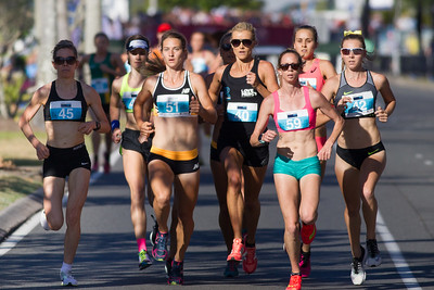 Genevive Lalonde, Eloise Wellings, Victoria Mitchell, Linden Hall - 2016 ASICS Bolt (Noosa 5k Bolt Run) - Super Saturday at the Noosa Triathlon Multi Sport Festival, Noosa Heads, Sunshine Coast, Queensland, Australia. Saturday 29 October 2016. - Camera 1