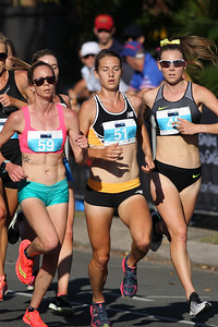 Victoria Mitchell, Genevive Lalonde, Linden Hall - 2016 ASICS Bolt (Noosa 5k Bolt Run) - Super Saturday at the Noosa Triathlon Multi Sport Festival, Noosa Heads, Sunshine Coast, Queensland, Australia. Saturday 29 October 2016. - Camera 1