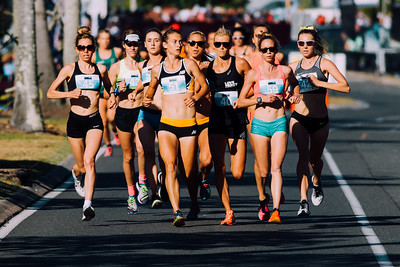 """C - Kodak Gold 100 + Alt"" - Genevive Lalonde, Eloise Wellings, Victoria Mitchell, Linden Hall - 2016 ASICS Bolt (Noosa 5k Bolt Run) - Super Saturday at the Noosa Triathlon Multi Sport Festival, Noosa Heads, Sunshine Coast, Queensland, Australia. Saturday 29 October 2016. - Camera 1"