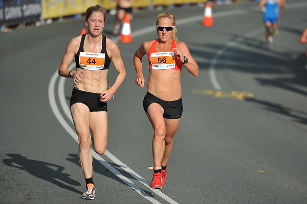 Belinda Martin (56), Georgina Clarke - Noosa 5k Bolt, Noosa Multi Sport Festival, Noosa Heads, Sunshine Coast, Queensland, Australia; 30 October 2010.
