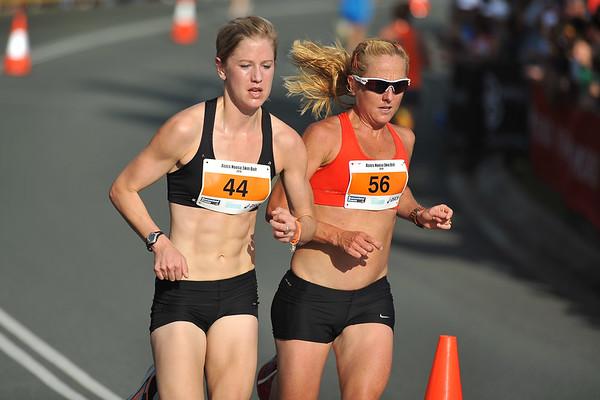 Belinda Martin & Georgina Clarke - Noosa 5k Bolt, Noosa Multi Sport Festival, Noosa Heads, Sunshine Coast, Queensland, Australia; 30 October 2010.