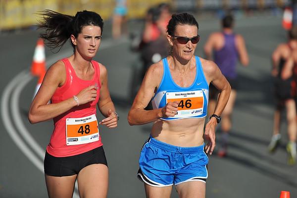 Coreena Cleland & Sonia O'Sullivan (46) - Noosa 5k Bolt, Noosa Multi Sport Festival, Noosa Heads, Sunshine Coast, Queensland, Australia; 30 October 2010.