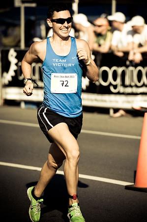 Alternate Processing: Steller Guru GreenGold - 2011 Men's & Women's Asics 5k Bolt (Run) - Super Saturday at the Noosa Triathlon Multi Sport Festival, Noosa Heads, Sunshine Coast, Queensland, Australia; 29 October 2011.