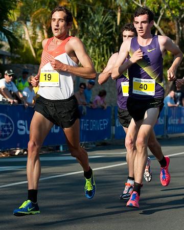 Bradley Croker, Patrick Tiernan - 2011 Men's & Women's Asics 5k Bolt (Run) - Super Saturday at the Noosa Triathlon Multi Sport Festival, Noosa Heads, Sunshine Coast, Queensland, Australia; 29 October 2011.