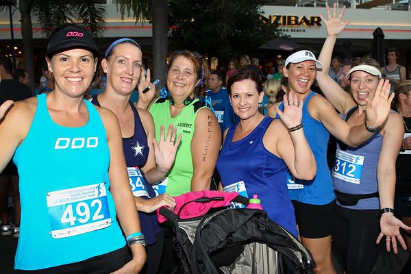 Pre-Race Group Photos -  2012 ASICS Twilight 5km Run; Mooloolaba, Sunshine Coast, Queensland, Australia; 23 March 2012. Photos by Des Thureson - disci.smugmug.com.