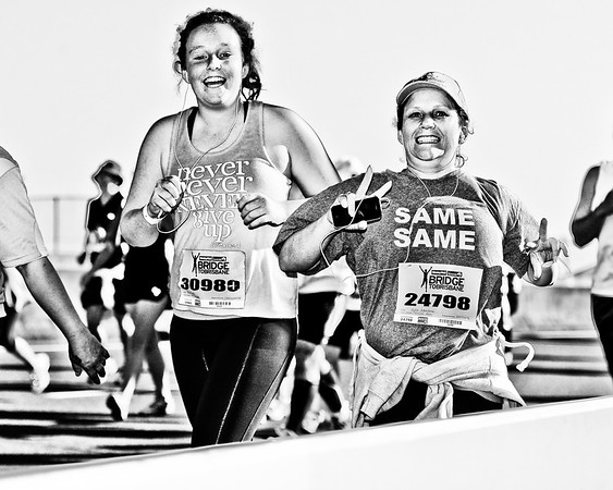 "Alternate Processing, hardcore acros - 2011 Bridge to Brisbane Fun Run; Sir Leo Hielscher Bridge (Gateway Bridge) to RNA Showgrounds. Photos by Des Thureson:  <a href=""http://disci.smugmug.com"">http://disci.smugmug.com</a>."