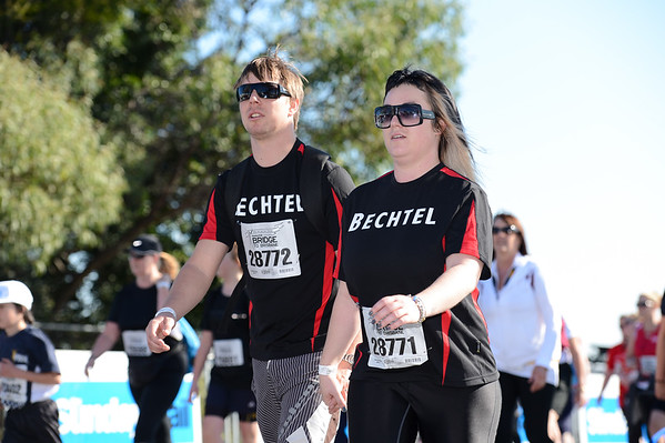 "Bechtel - 2012 Sunday Mail Suncorp Bridge to Brisbane Fun Run; Sir Leo Hielscher Bridge (Gateway Bridge) to RNA Showgrounds. Camera 1. Photos by Des Thureson:  <a href=""http://disci.smugmug.com"">http://disci.smugmug.com</a>."