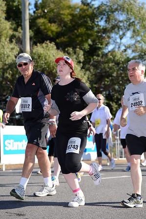 "2012 Sunday Mail Suncorp Bridge to Brisbane Fun Run; Sir Leo Hielscher Bridge (Gateway Bridge) to RNA Showgrounds. Camera 1. Photos by Des Thureson:  <a href=""http://disci.smugmug.com"">http://disci.smugmug.com</a>."