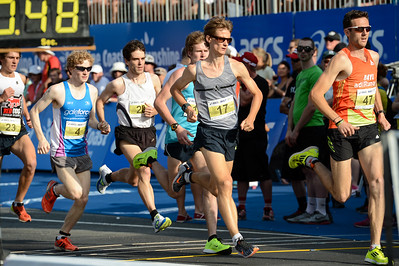 Grant Page, Jonathan Peters, Tom Bayliss - 2012 ASICS Bolt 5km Run (Asics 5k Bolt) - Men & Women; Mooloolaba, Sunshine Coast, Queensland, Australia; 03 November 2012. Photos by Des Thureson