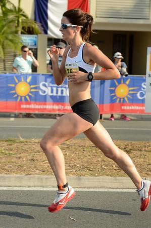 Coreena Cleland - 2012 ASICS Bolt 5km Run (Asics 5k Bolt) - Men & Women; Mooloolaba, Sunshine Coast, Queensland, Australia; 03 November 2012. Photos by Des Thureson