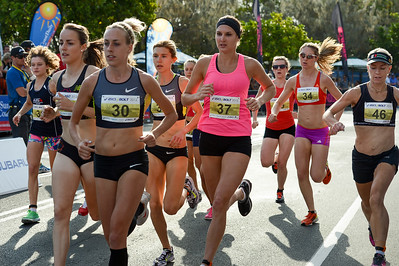 Lucy Van Dalen, Susan Kuijken, Shelley Kelly - 2012 ASICS Bolt 5km Run (Asics 5k Bolt) - Men & Women; Mooloolaba, Sunshine Coast, Queensland, Australia; 03 November 2012. Photos by Des Thureson
