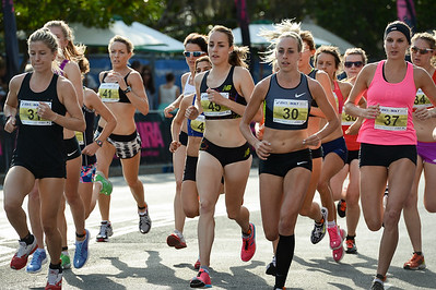 Georgina Clarke, Lucy Van Dalen, Susan Kuijken, Shelley Kelly - 2012 ASICS Bolt 5km Run (Asics 5k Bolt) - Men & Women; Mooloolaba, Sunshine Coast, Queensland, Australia; 03 November 2012. Photos by Des Thureson