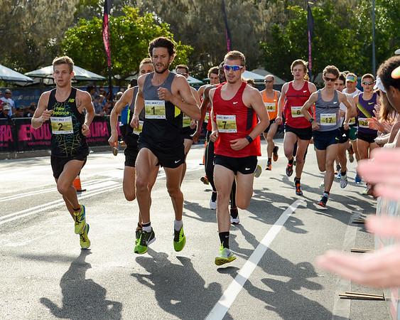 Collis Birmingham, Brett ROBINSON, Michael Colston - 2012 ASICS Bolt 5km Run (Asics 5k Bolt) - Men & Women; Mooloolaba, Sunshine Coast, Queensland, Australia; 03 November 2012. Photos by Des Thureson