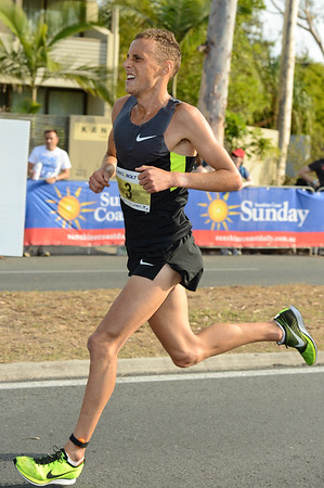 Ryan Gregson - 2012 ASICS Bolt 5km Run (Asics 5k Bolt) - Men & Women; Mooloolaba, Sunshine Coast, Queensland, Australia; 03 November 2012. Photos by Des Thureson
