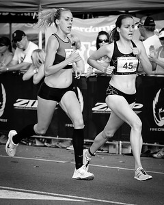 Alternate processing, Hardcore Acros - Lucy Van Dalen, Susan Kuijken - 2012 ASICS Bolt 5km Run (Asics 5k Bolt) - Men & Women; Mooloolaba, Sunshine Coast, Queensland, Australia; 03 November 2012. Photos by Des Thureson.