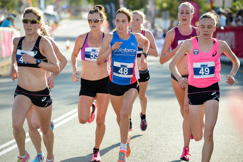 "Clare O'Brien, Kate SPENCER, Jessica Trengrove, Elouise Wellings, Susan Kuijken - 2014 ASICS Bolt - 2014 Super Saturday at the Noosa Triathlon Multi Sport Festival, Noosa Heads, Sunshine Coast, Queensland, Australia. Camera 1. Photos by Des Thureson - <a href=""http://disci.smugmug.com"">http://disci.smugmug.com</a> - Camera 1."
