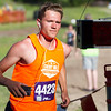 Record-Eagle/Brett A. Sommers Nick Meddaugh finishes Thursday's Record-Eagle 2-Mile Cross Country Classic at Mt. Holiday. Meddaugh was runner up with a time of 15 minutes, six seconds.