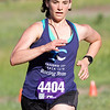 Record-Eagle/Brett A. Sommers Kayla Six finishes Thursday's Record-Eagle 2-Mile Cross Country Classic at Mt. Holiday. Six won the race with a time of 18 minutes, 18 seconds.