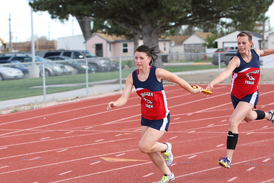 Lingle-Ft Laramie relay - I do not have their names. not on the meet sheet and they took off too fast.