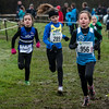 Marta Goos loopt in derde positie gevolgd door Lola Bossue en Elise Meirlevede - Meisjes Benjamins 2007 & 2008 - Memorial Belinde Verstraete - Ieper