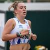 Reeks 2 van de 800 M gewonnen door Maya Corstjens