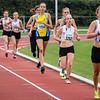Reeks 2 van de 800 M geleid door Maya Corstjens, gevolgd door Marte Truyers, Elien Lembrechts, Silke Jacobs, Riet Vandenberk, Kim Vanharen & Enya Bleyen