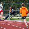 Klaarmaken voor de eerste 800 M na bijna 3 maand zonder competitie