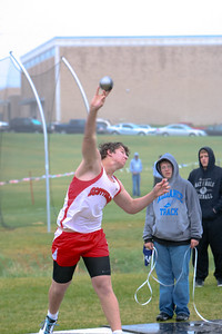 Scottsbluff's Maag palces second in the boys shot put with a throw of 49 3/4