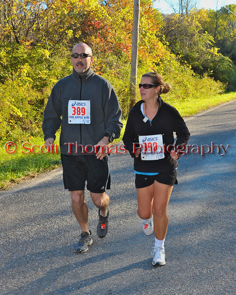 The 5K Road Race of the 2010 Apple Run at the LaFayette Apple Festival in LaFayette, New York.
